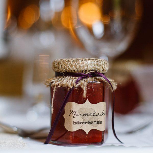 Marmelade-Gastgeschenk